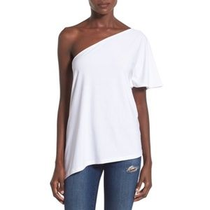 Leith Tops - Leith white one shoulder top